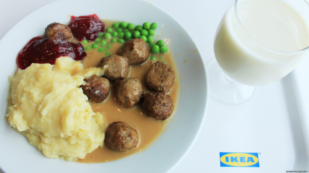 My first ever Ikea meal!