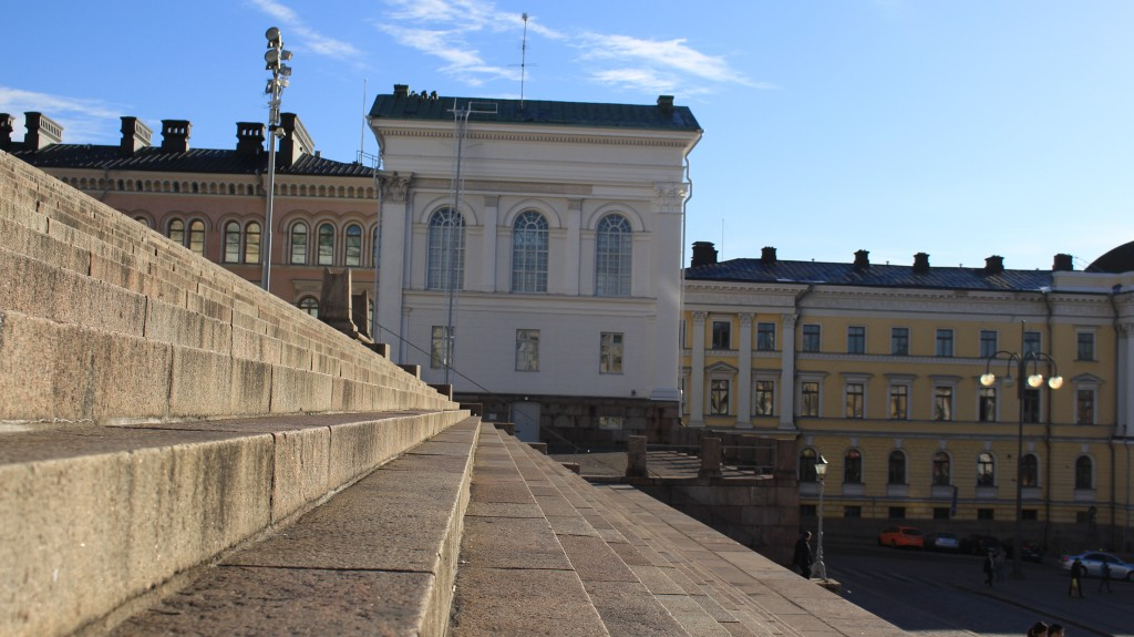Some straight lines in Helsinki cityscape.