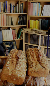 Books and bread in a French Foodie Fair - in an old Georgian house. What else could one wish for?