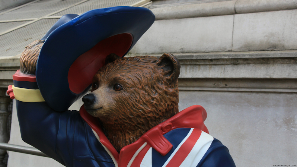 Hullo London! Says the Paddington designed by Stephen Fry.