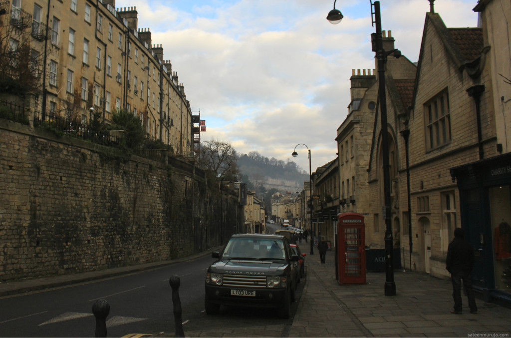 This is where Austen lived for a while, on the other side of Bath. 1 The Paragon being the address.