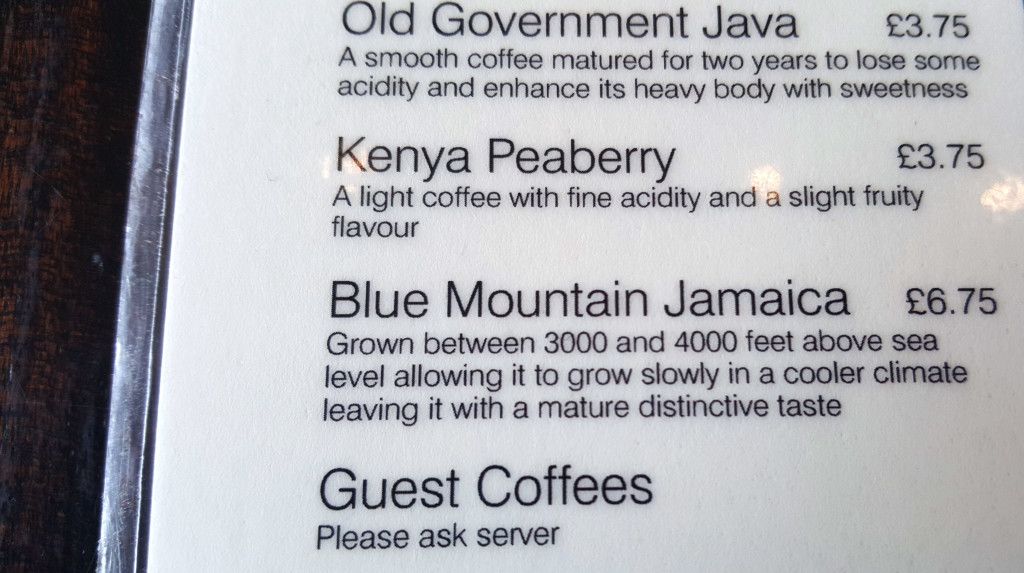 The smooth Jamaica Blue Mountain coffee grows in one of the finest coffee growing areas in the world.