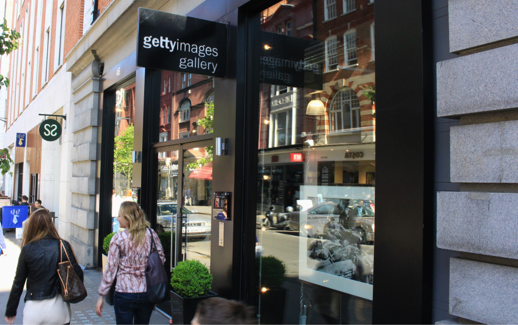 Getty Images gallery is located almost just across the street from Kaffeine.