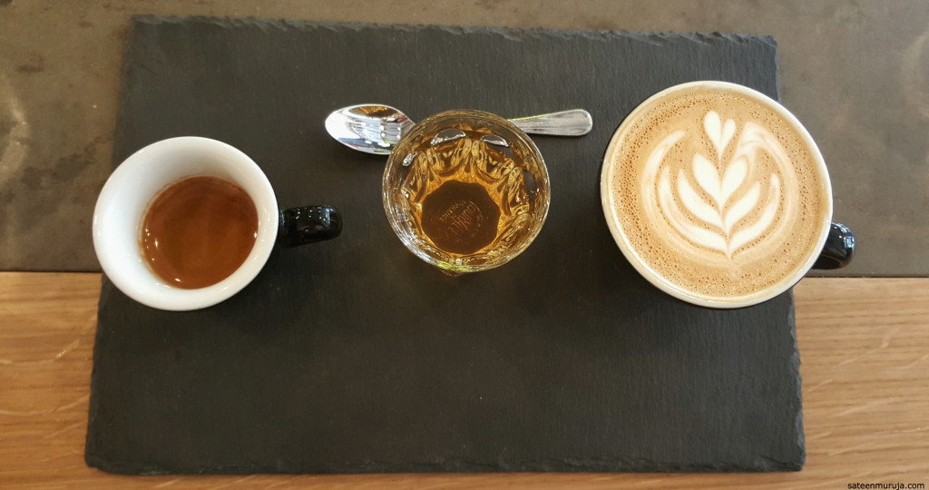 'The Flight' in Kaffeine. You can taste how different coffees are better suited for different brews.