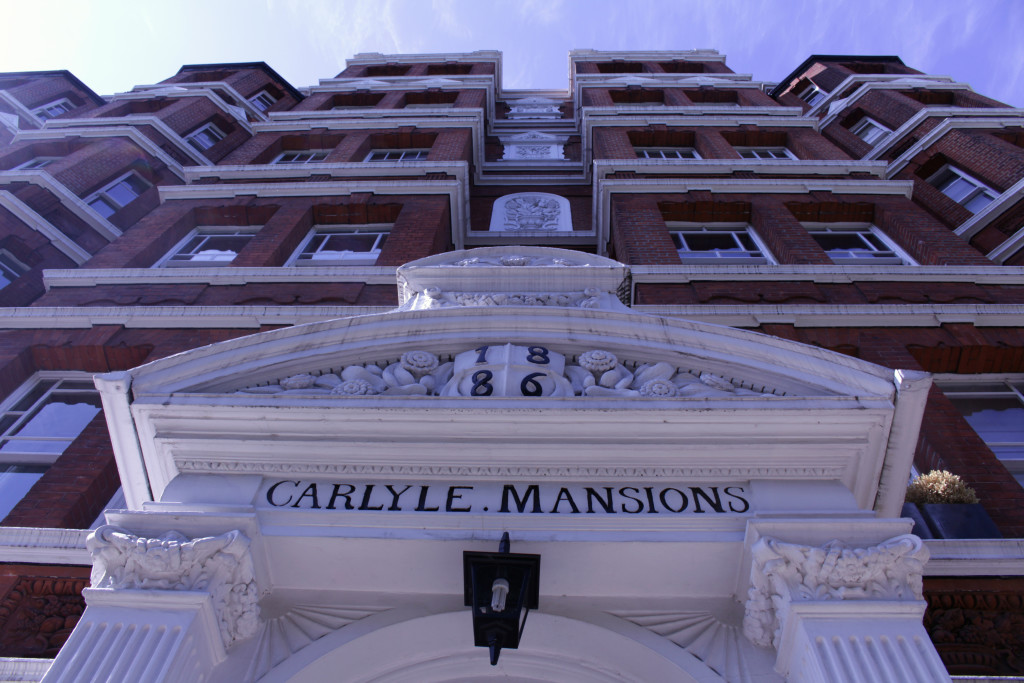 Carlyle Mansions are also known as the Writers Block.