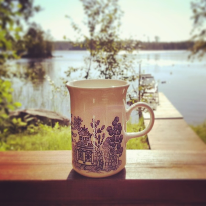 More coffee at a cottage.