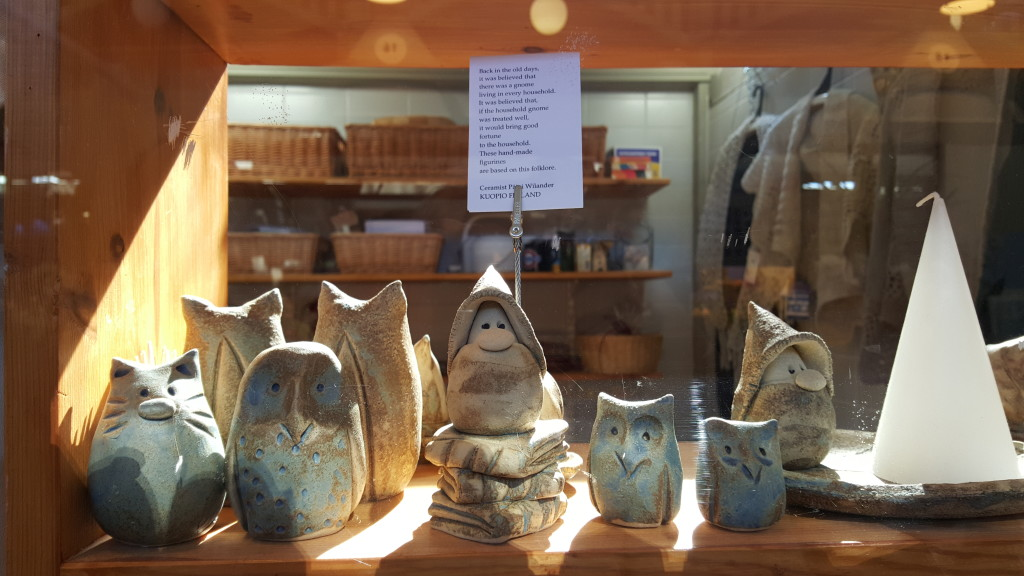 And then, naturally, there is the cute local handicraft. These little elves live in Kuopio.