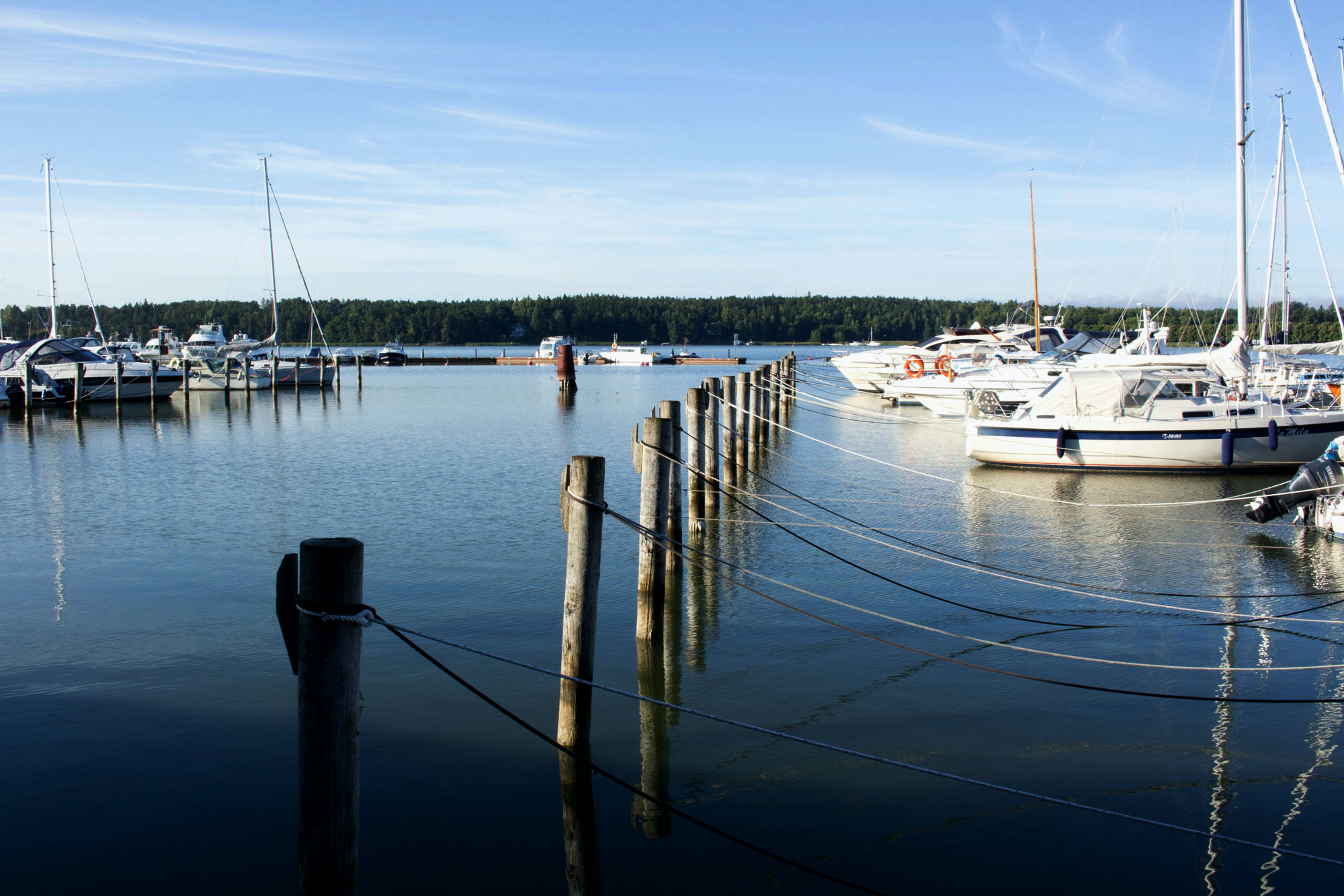 A sea view from Naantali's harbour.