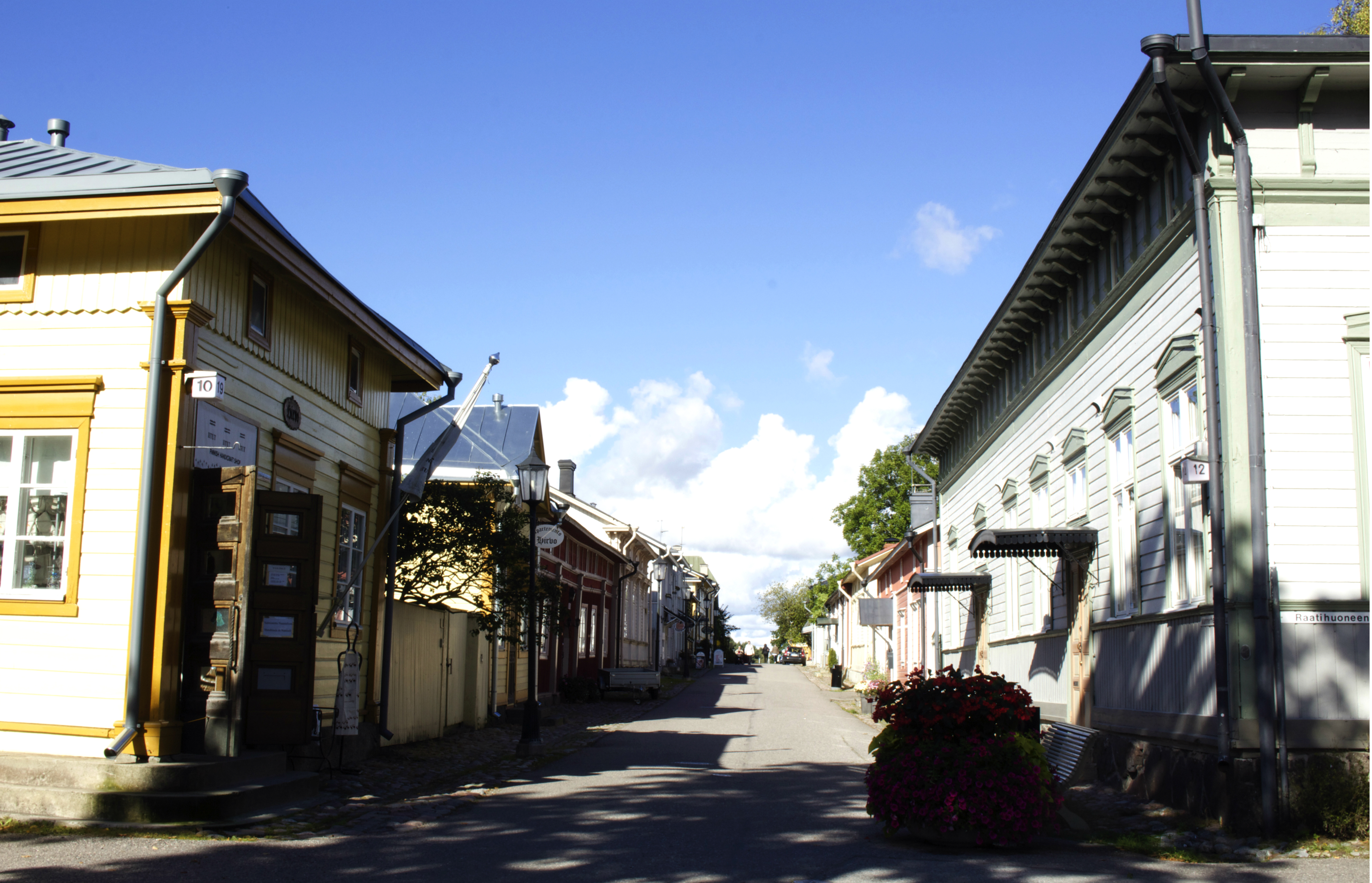 Old Town main street in Naantali.