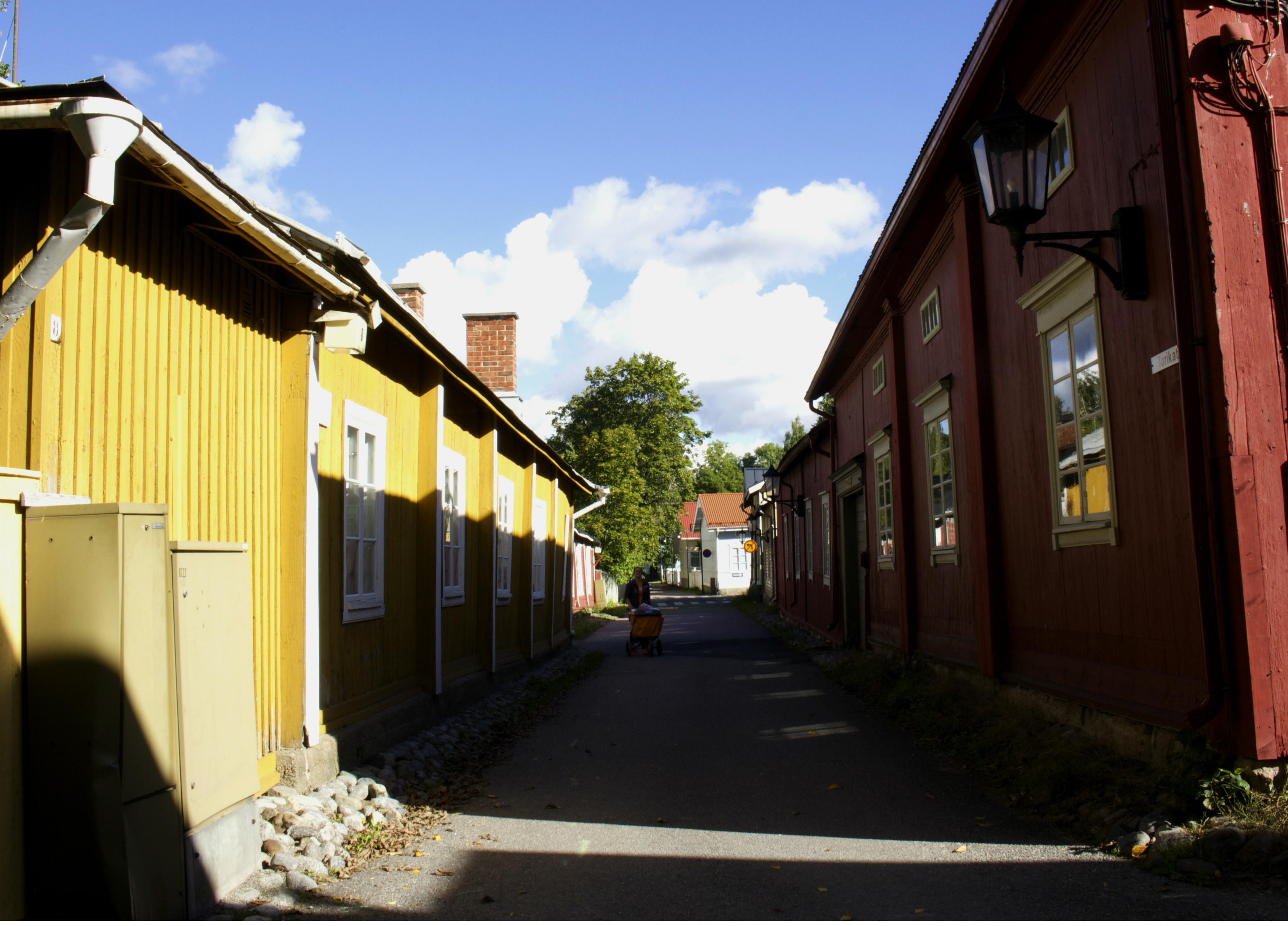 Leaning walls of Naantali.