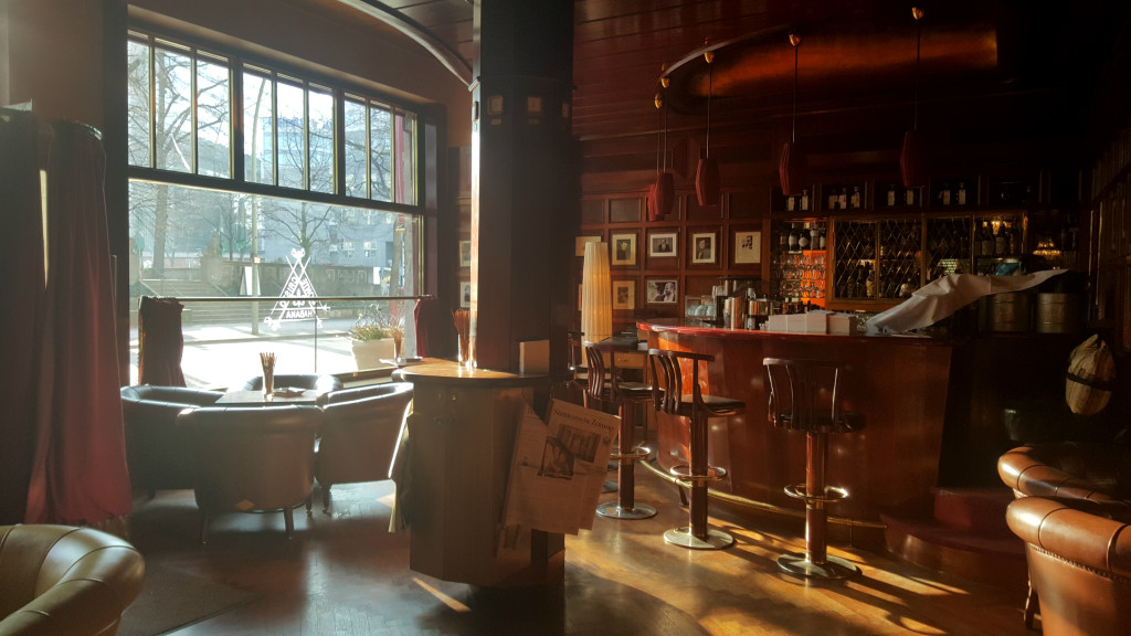 The morning sun provided a perfect moment to step into The Times Bar.
