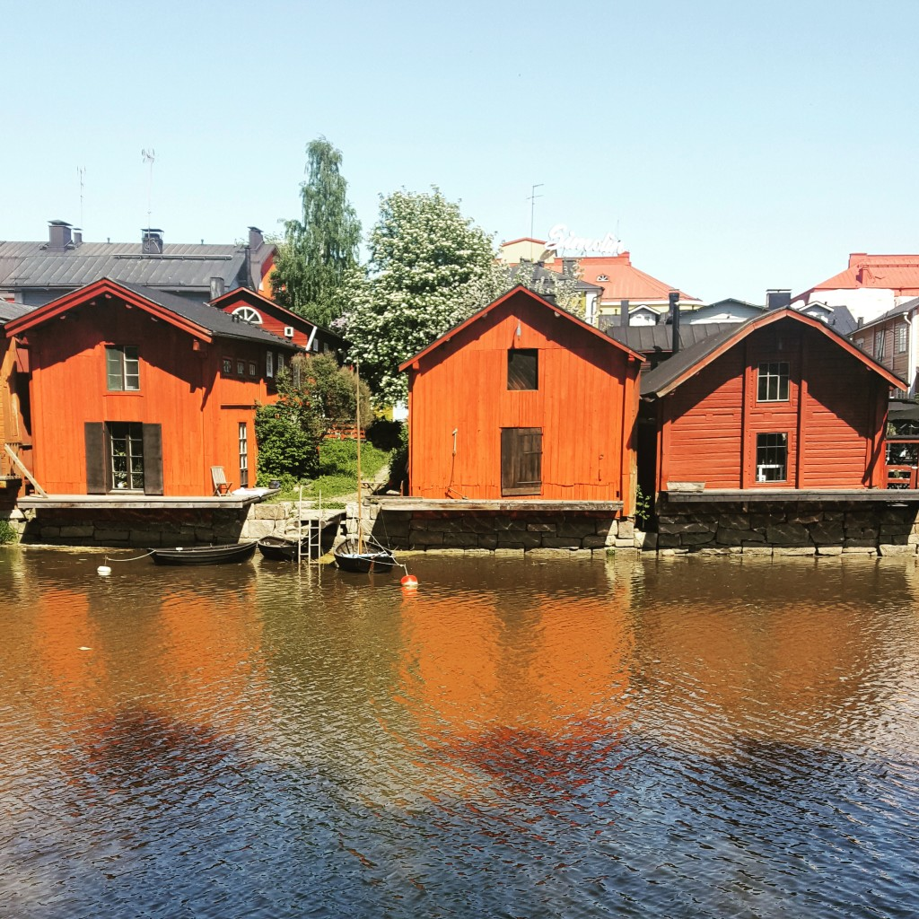 One of the most photographed spots in Finland can be found along the River Porvoo.
