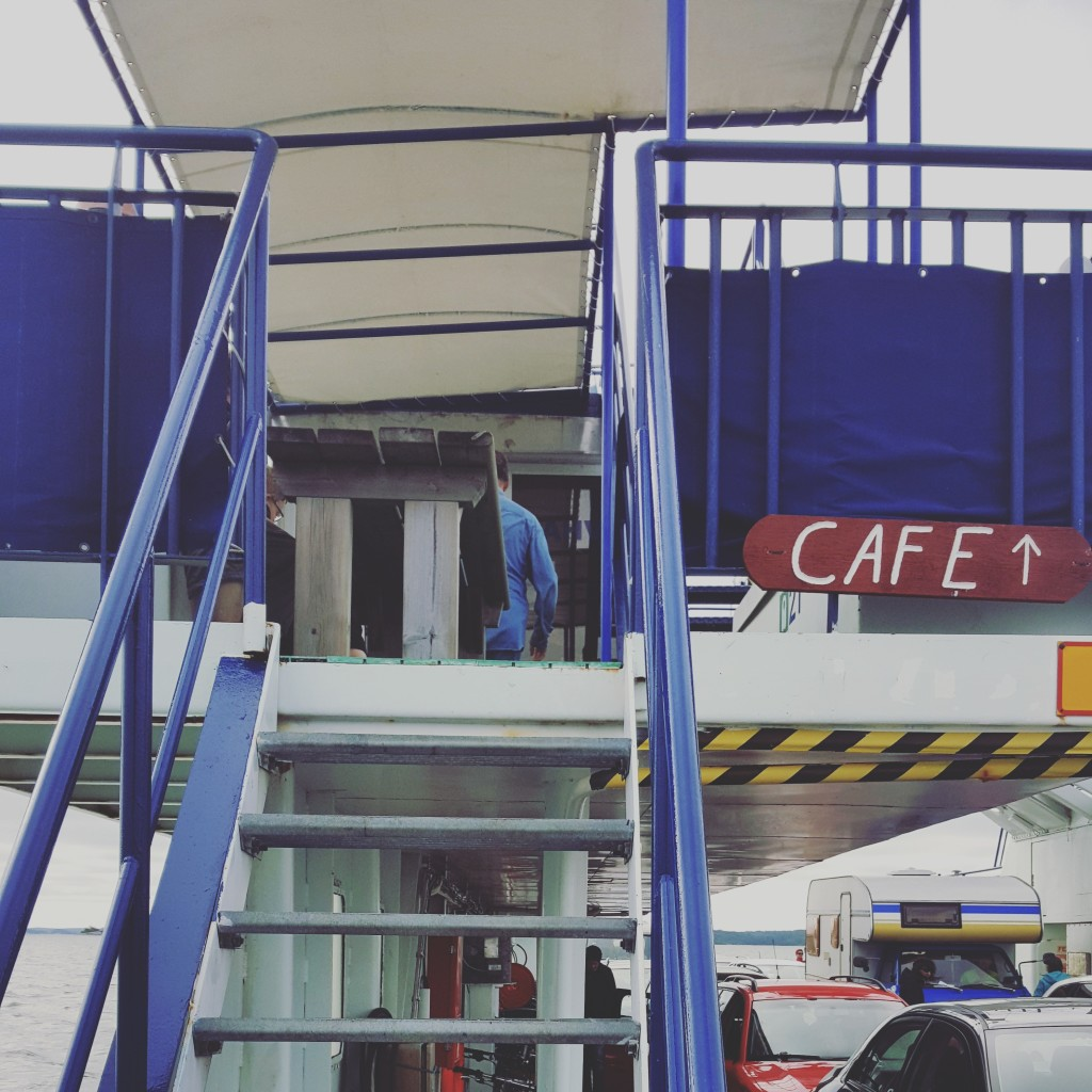 There were cafés in some of the bigger ferries. In this particular case though, the coffee was sold out.