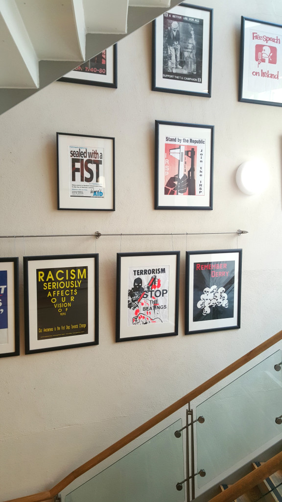 The Linen Hall Library has a permanent exhibition of political posters from the times of the Troubles.