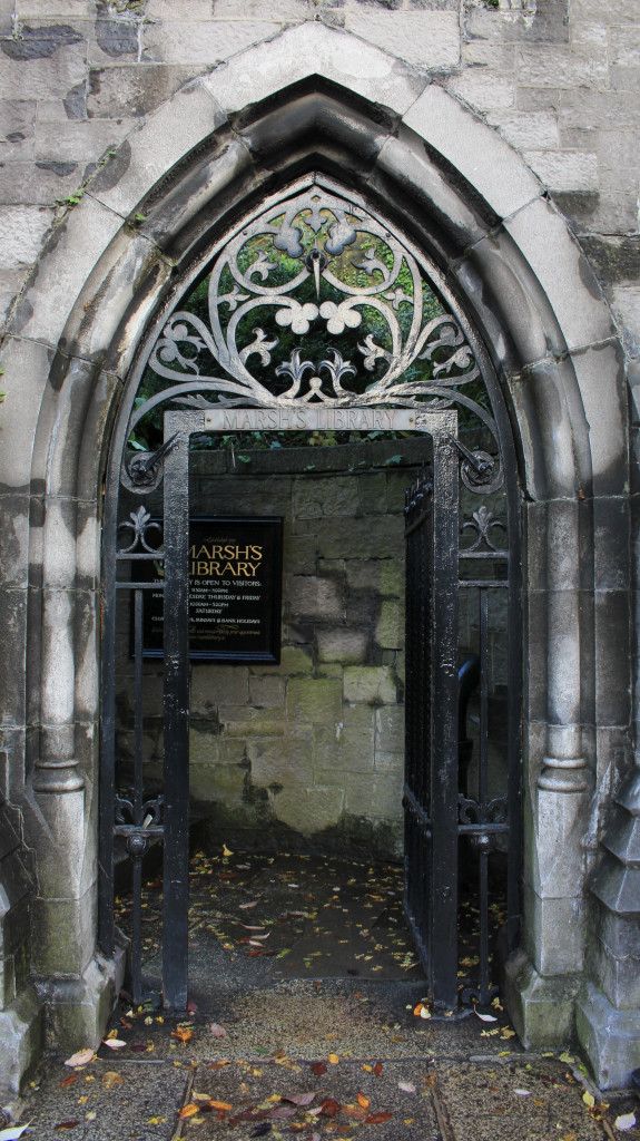 The entrance to Marsh's library at St Patrick's Close, Dublin 8.