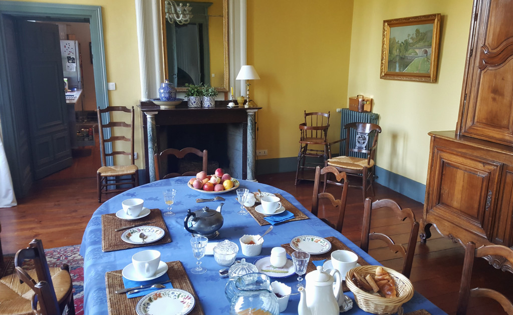 The breakfast is enjoyed at a communal dining table. I talked with a couple from Paris, hunting for their dream house in the area - how lucky!